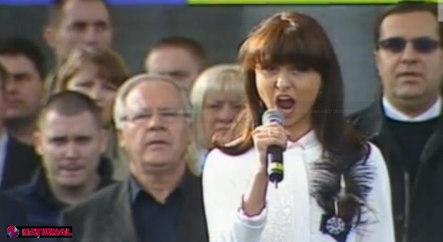 Valentina Naforniță pe scena din PMAN