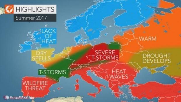 Meteo Harta Caniculei In Europa Va Fi O Vară Toridă Cu
