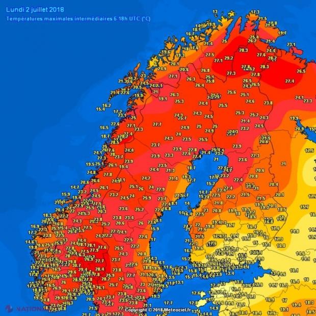 ÎNGRIJORĂTOR // Temperaturi-record, mai mari ca la noi, înregistrate în apropiere de Polul Nord